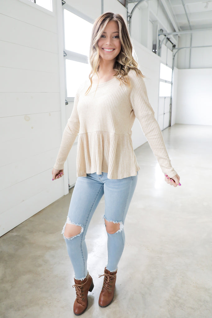 Peppy Peplum Top
