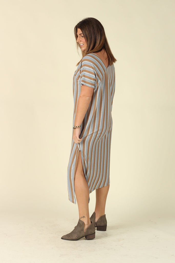 Find Yourself - Striped Maxi