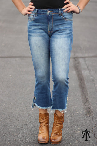 Boogie - Cropped Jeans With Eyelet Detail