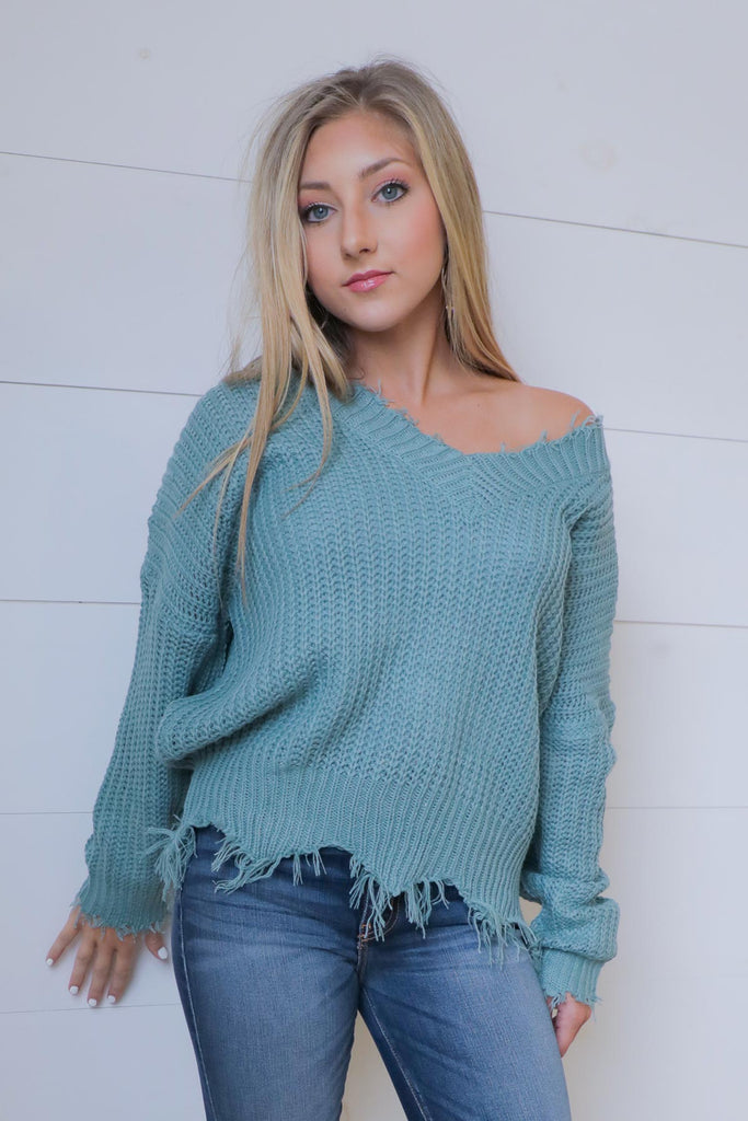 Distress Me Sweater - Ty Alexander's