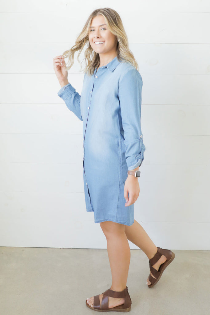 Humming A Tune Blue Dress - Umgee- Ty Alexander's Dress Collection