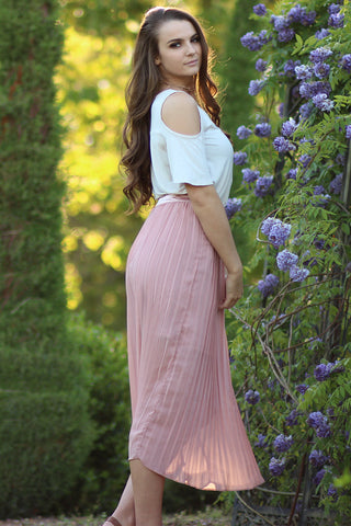 Million Years - Pleated See Through Maxi Skirt