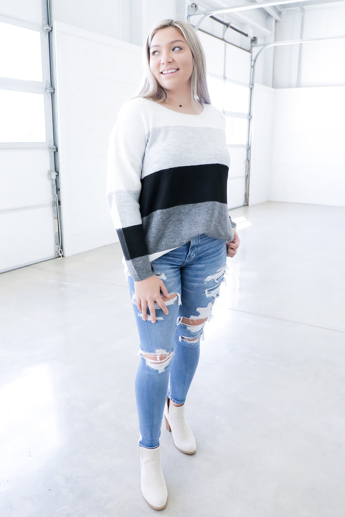 Deep Thoughts Colorblock Sweater