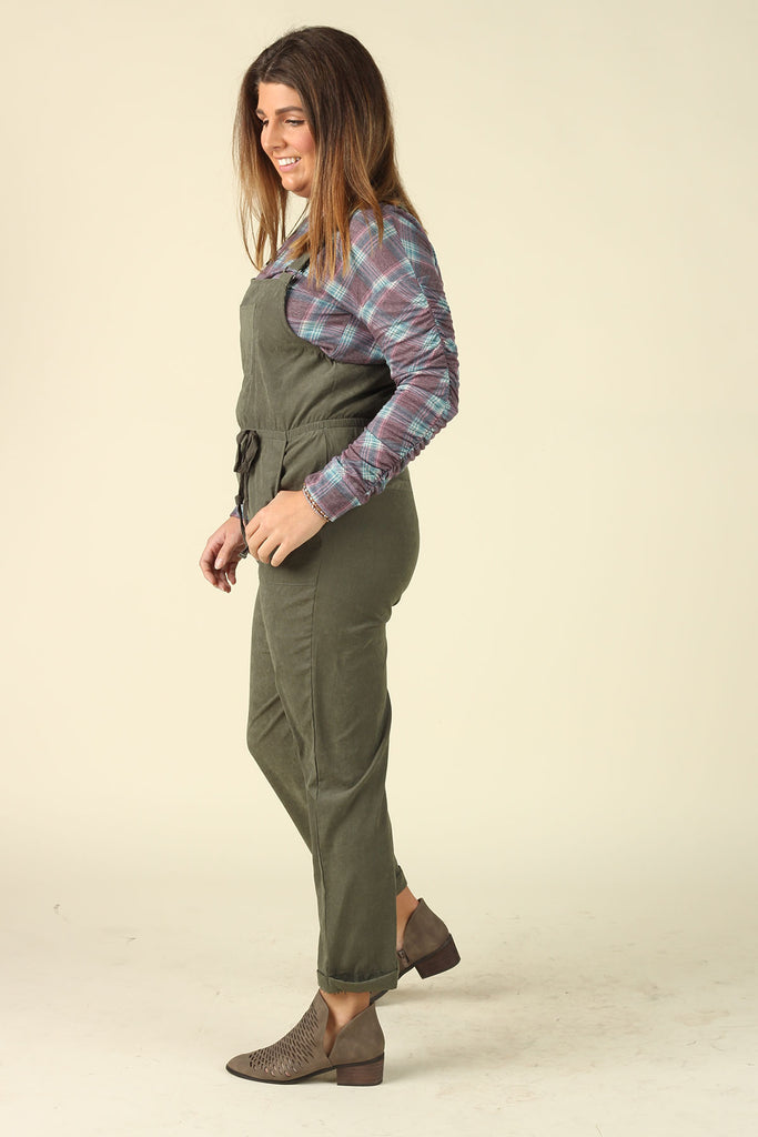 Keepin' Up - Olive Overalls