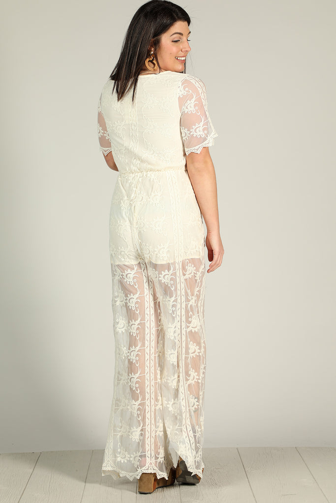 Southern Calling - Lace Jumpsuit