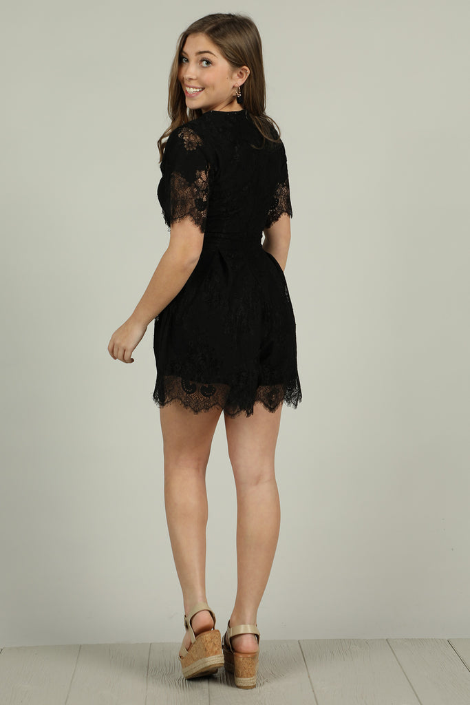 Ready To See - Black Romper