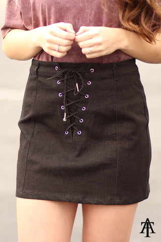 Ty Alexander's - Been Needing - Woven Skirt with Eyelet