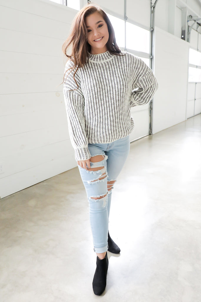 Two Toned Sweater
