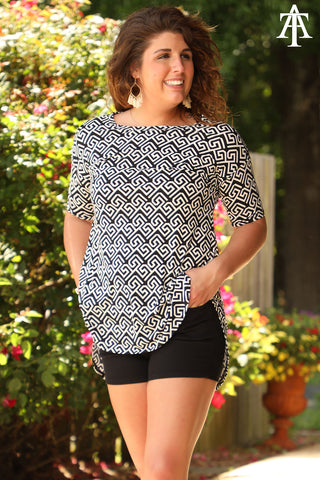 Geometric Patterned Top - Ty Alexander's