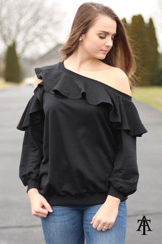 Ty Alexander's - Off The Shoulder Top With Ruffle Detail