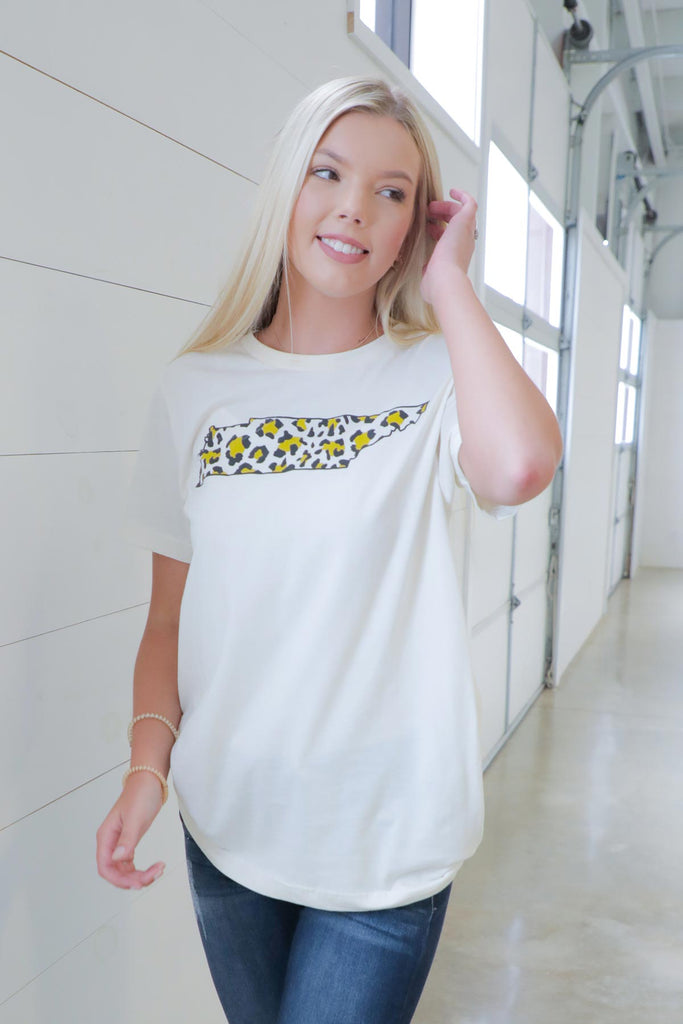 Leopard Tennessee State Tee - Ty Alexander's