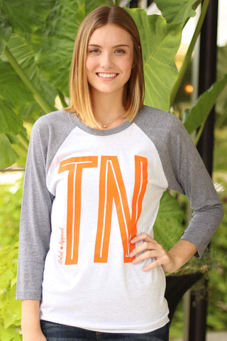 Tennessee - Tall Tn Logo Baseball Tee