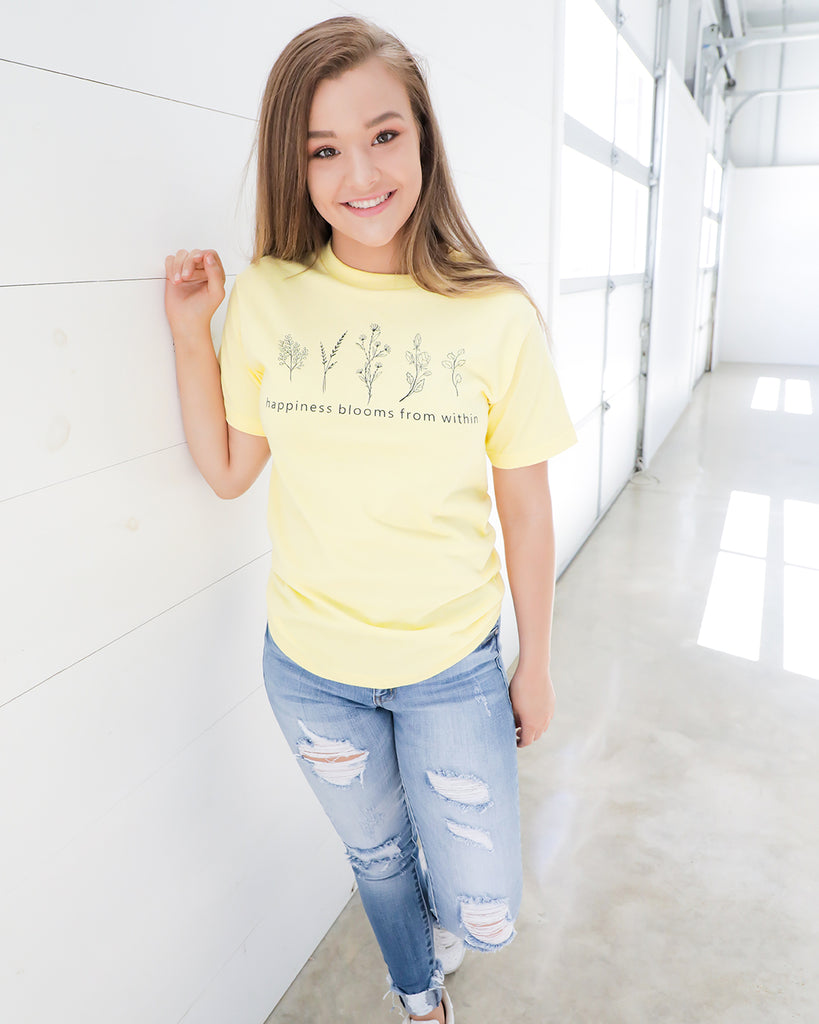 Happiness Blooms Tee- Ty Alexander's