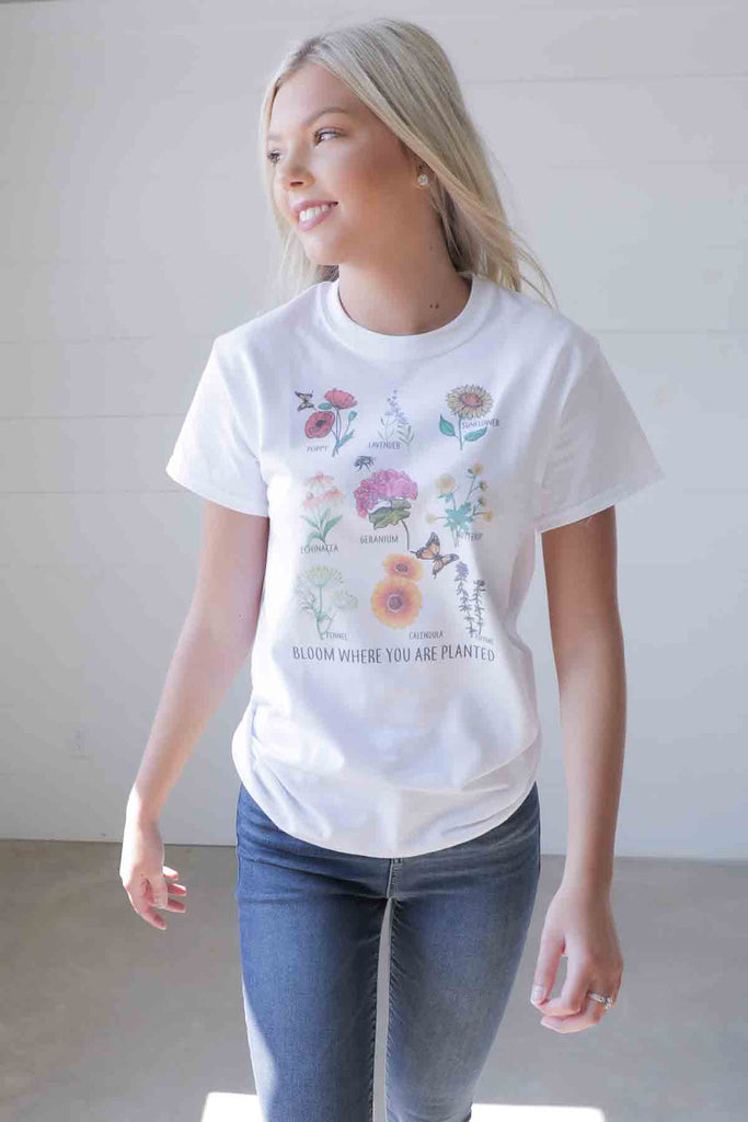 Bloom Where You Are Planted TCO Life Tee