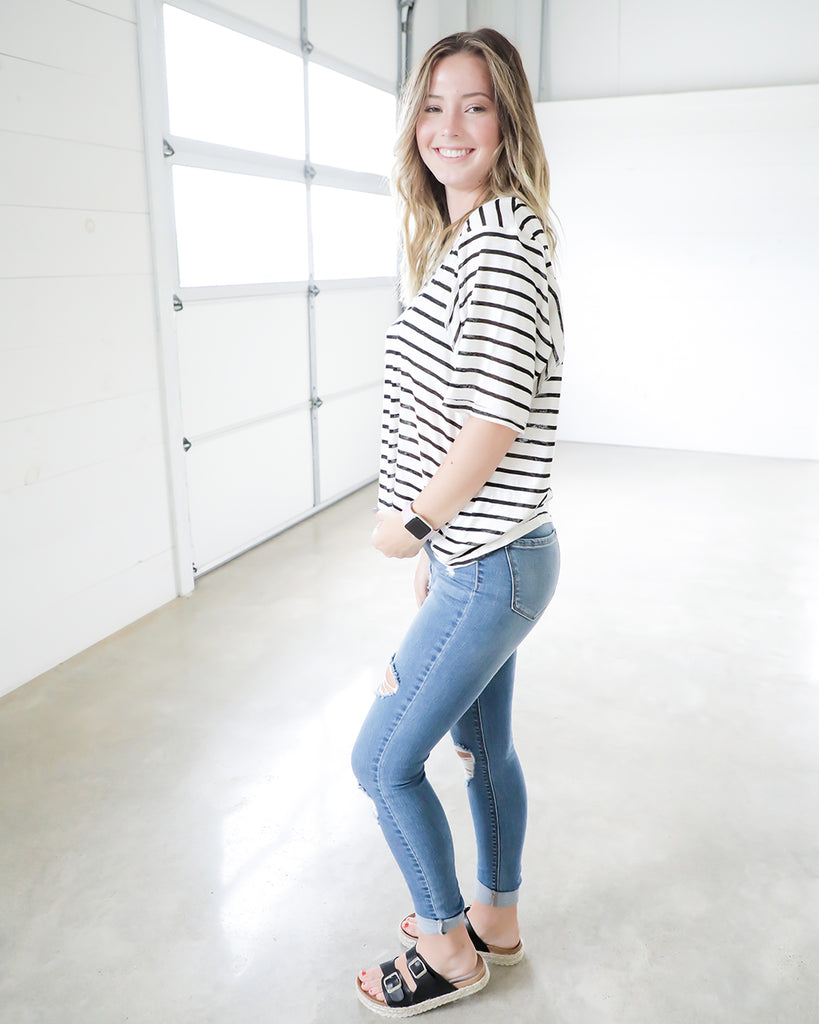 Stripe A Match Top
