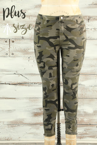 Find Your Way - Camo Moto Jeans - Plus - Ty Alexander's