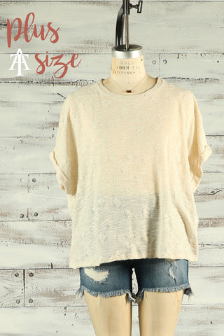 Knit Short Sleeve Top - Plus - Ty Alexander's