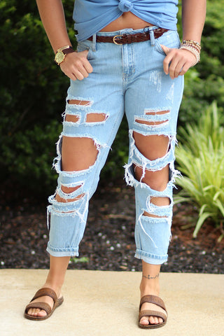 Don't test me- Destroyed Denim Jeans- Ty Alexander's