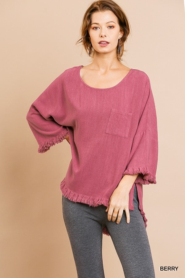 Take It From Me Linen Top - Umgee