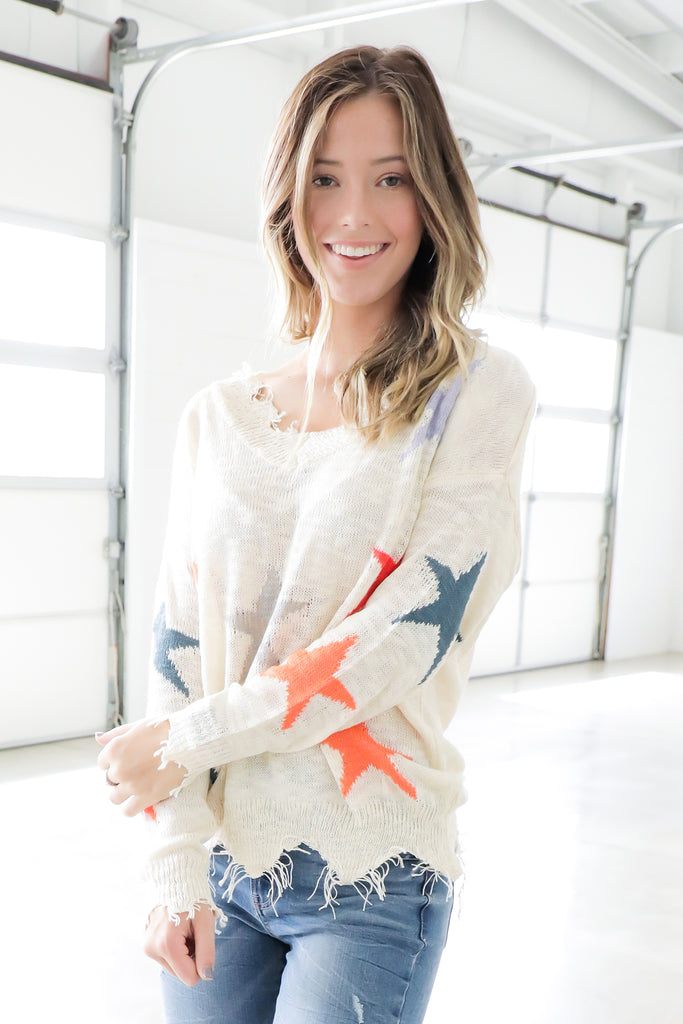 Star Struck Multi Color Sweater