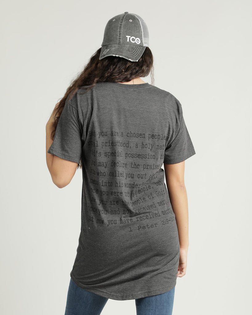 1 Peter 2:9-10 - Long Body Tee - Ty Alexander's