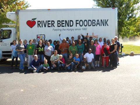 Feeding the hungry in collaboration with River Bend Foodbank.