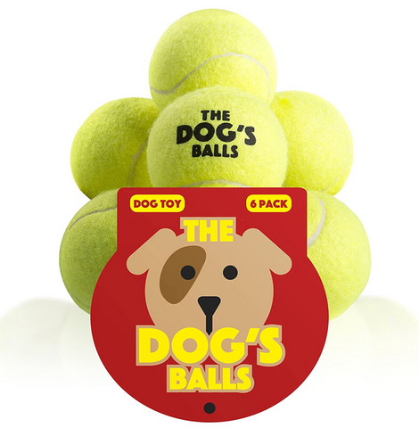 The Dog's Balls - 6 Strong Dog Tennis Balls