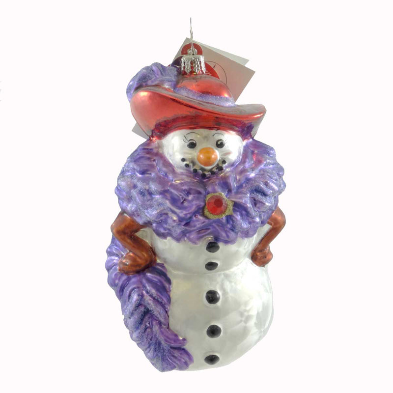 Christopher Radko Chilly Millie Glass Ornament
