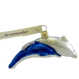 Ornaments To Remember Nuzzling Dolphins Glass Ornament