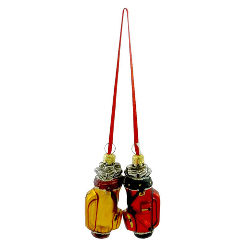 Ornaments To Remember Golf Bag Set Glass Ornament