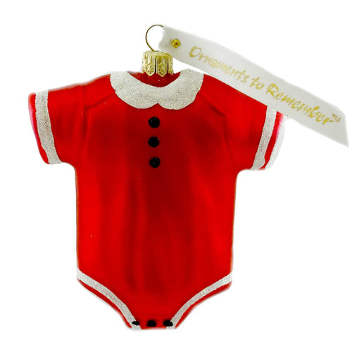 Ornaments To Remember Onesie (Red) Glass Ornament