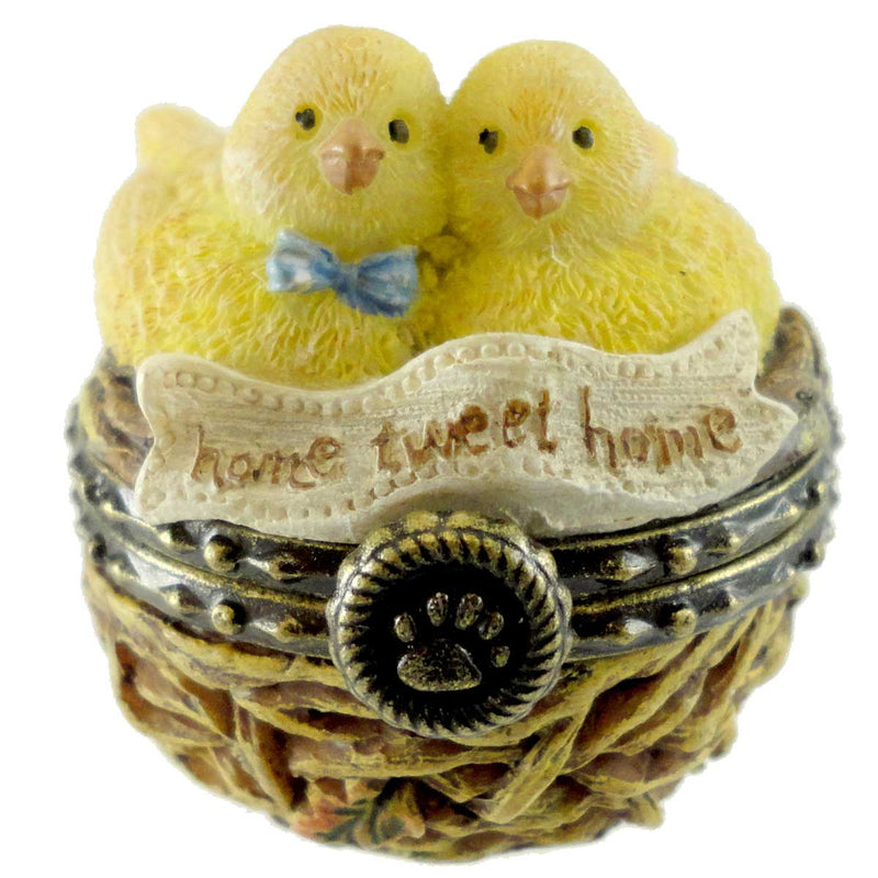 Boyds Bears Resin Mr & Mrs Nestling's Home Tweet Treasure Box