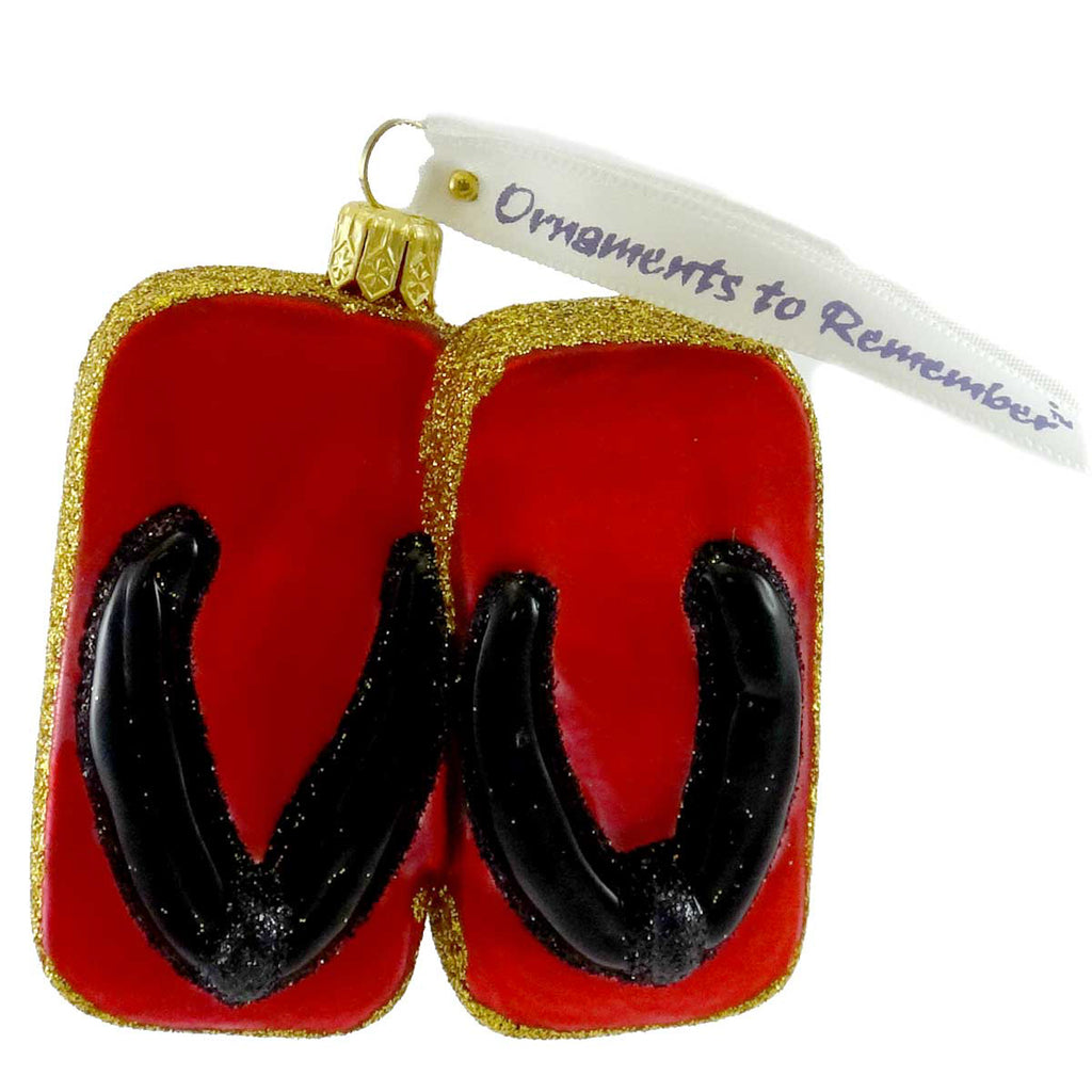 Ornaments To Remember Geta (Red) Glass Ornament
