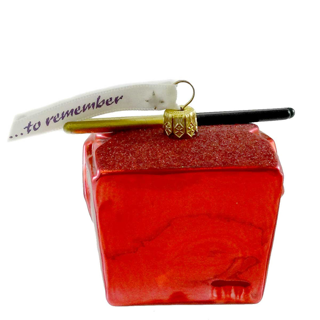 Ornaments To Remember Take-Out Box (Red) Glass Ornament