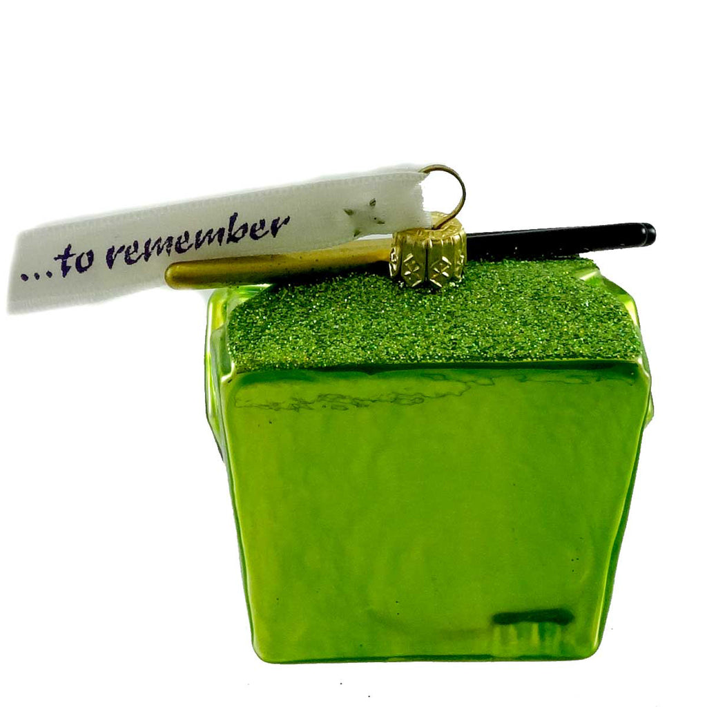 Ornaments To Remember Take-Out Box (Green) Glass Ornament