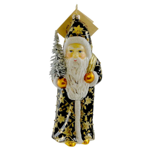 Gabriela Christoff Winter Golden Sparkle Glass Ornament 10206