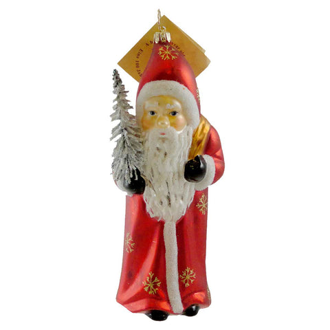 Gabriela Christoff Ruby Red St. Nick Glass Ornament 10217