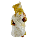 Gabriela Christoff Winter White Out Glass Ornament