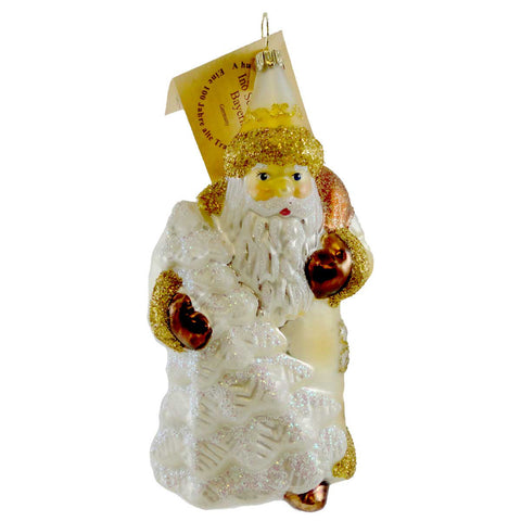Gabriela Christoff Winter White Out Glass Ornament 10218