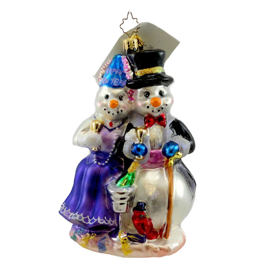 Christopher Radko Happy Snow Year Glass Ornament