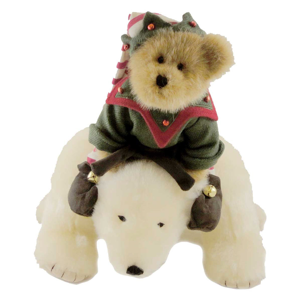 Boyds Bears Plush OLLIE W/BLIZZARD SEARCH ST NICK Christmas Polar Bear Teddy 4014612