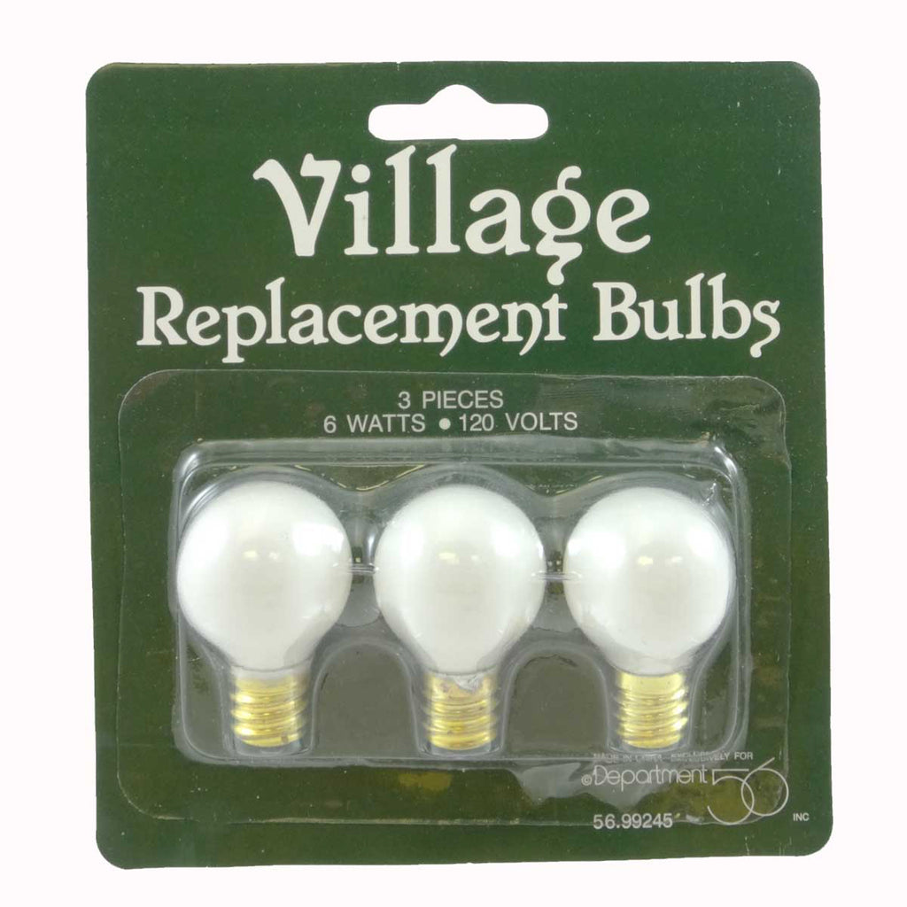 Department 56 Accessory Replacement Bulbs 6 Watts 120 V Village Lights