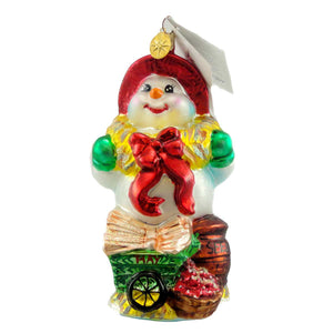 Christopher Radko Farmer Frost Glass Ornament