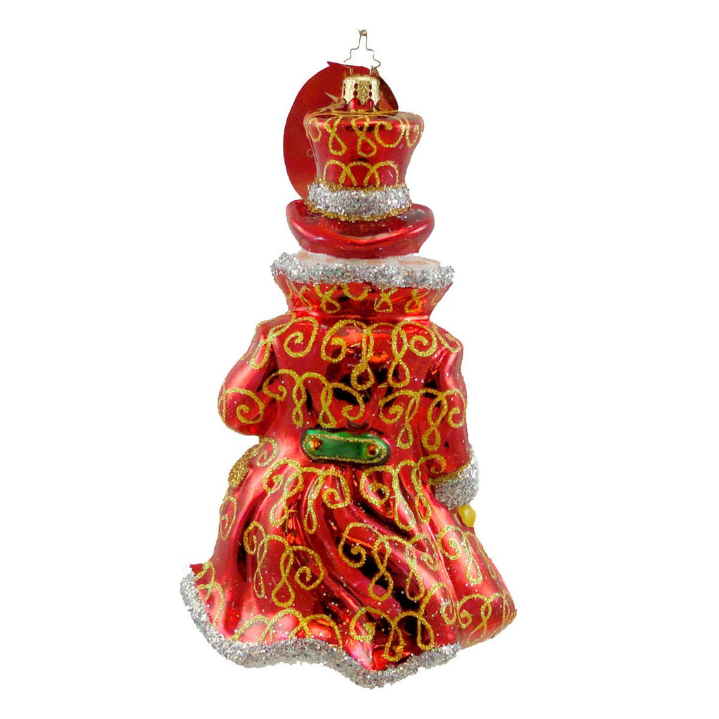 Christopher Radko Lord Snowley Glass Ornament