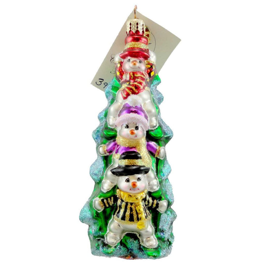 Christopher Radko Snow Stacked Sbk Glass Ornament