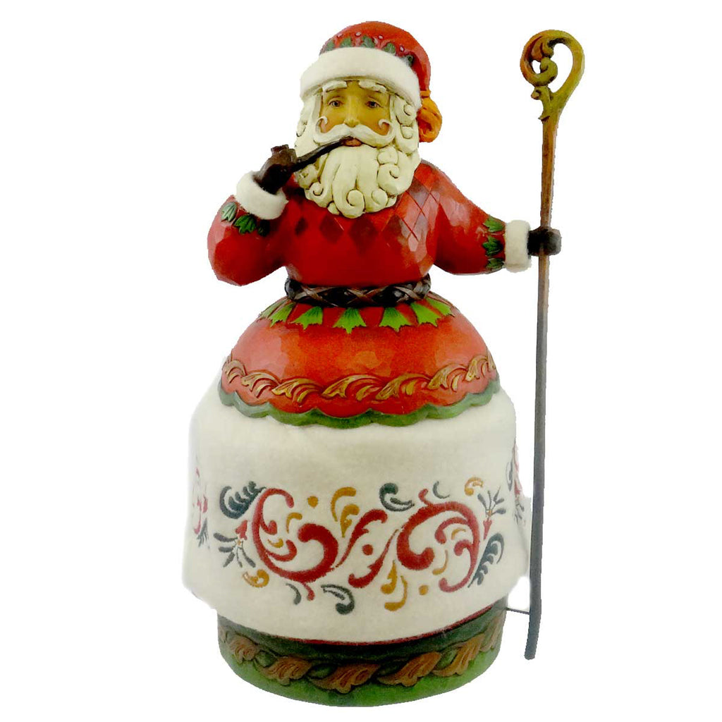 Jim Shore Santa With Pipe And Cane Christmas Figurine