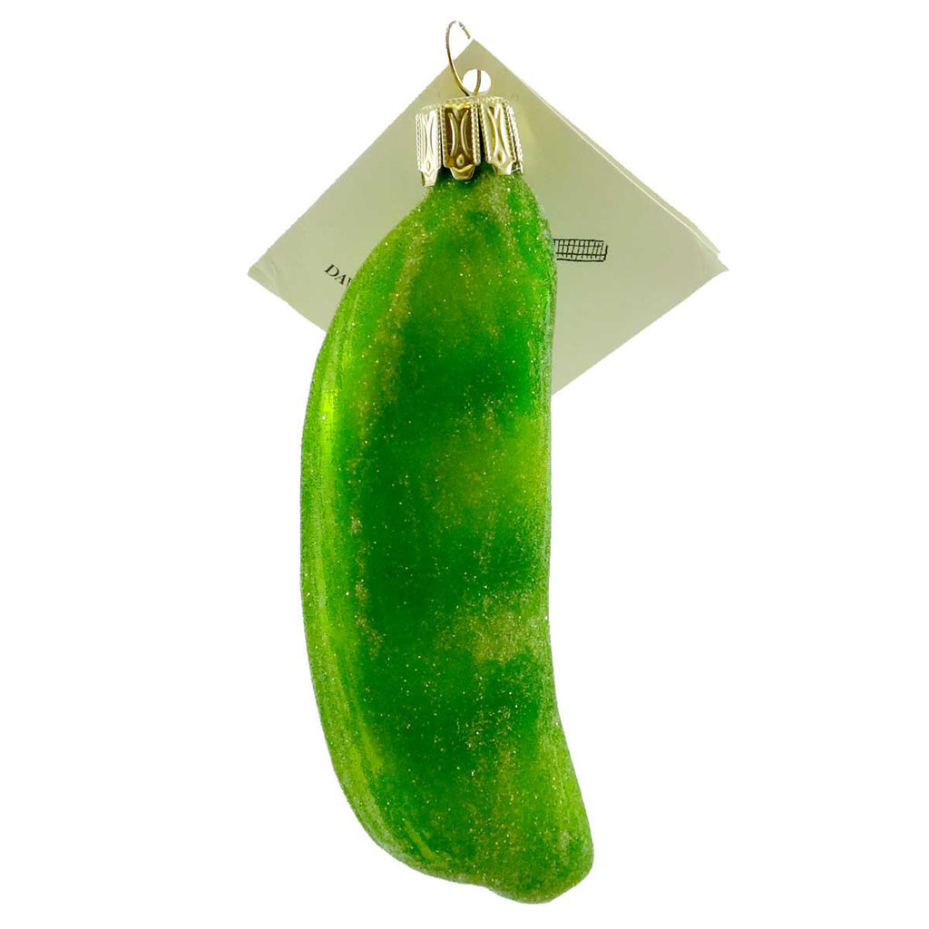 David Strand Designs Peas In The Pod Glass Ornament