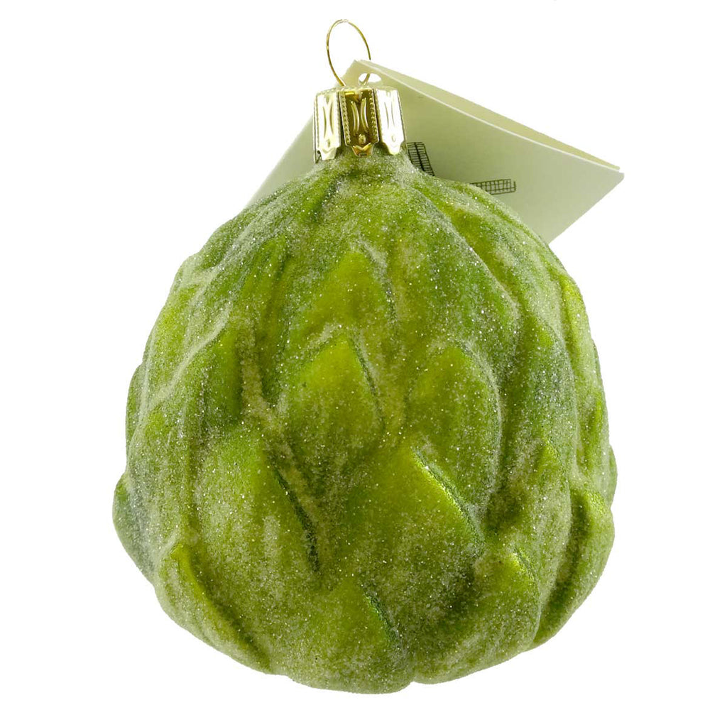 David Strand Designs Artichoke Glass Ornament