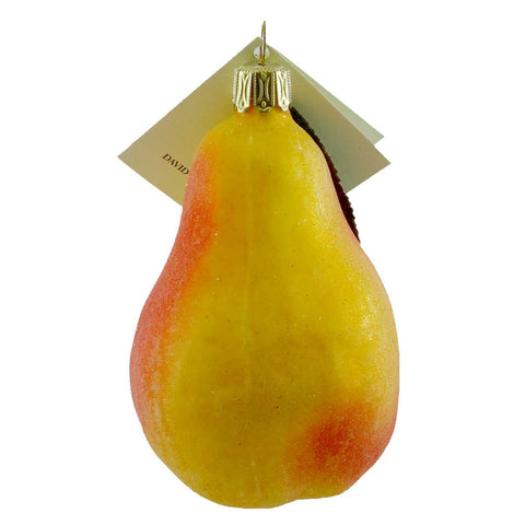 David Strand Designs Pear Glass Ornament 11271