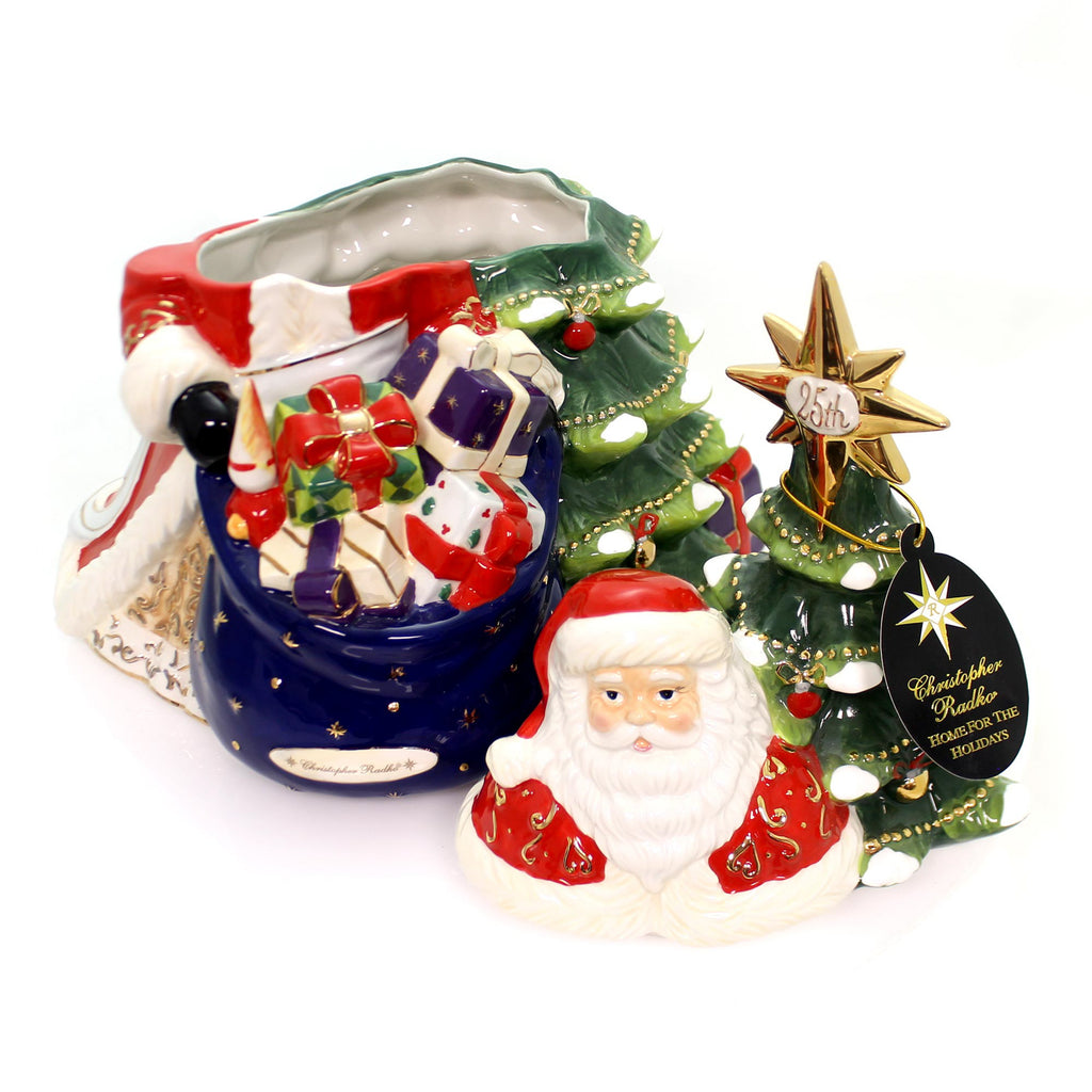 Christopher Radko Celebrating Santa 25th Anniversary Christmas Tabletop